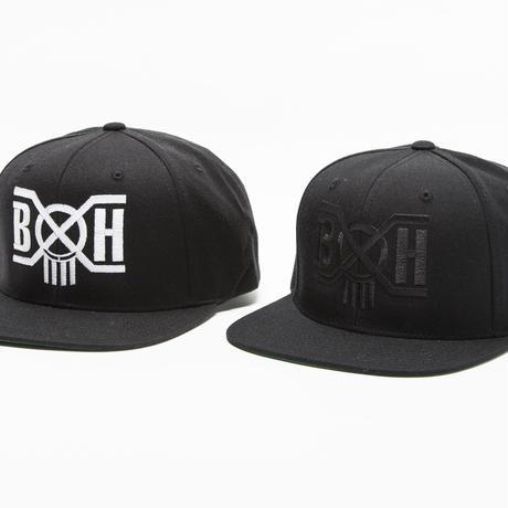 BxH BK/WH Logo Snap Back Cap