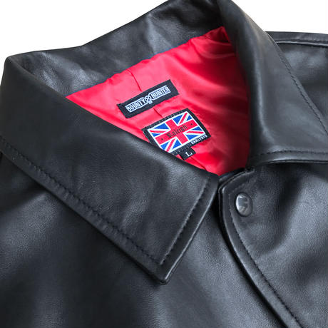 """RALEIGH x BOUNTY HUNTER """"DAWNING OF A NEW ERA"""" LEATHER COACH JACKET"""