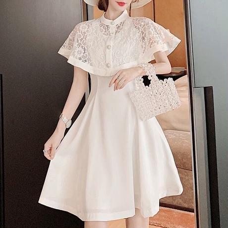 Lady lace cape dress(No.300706)