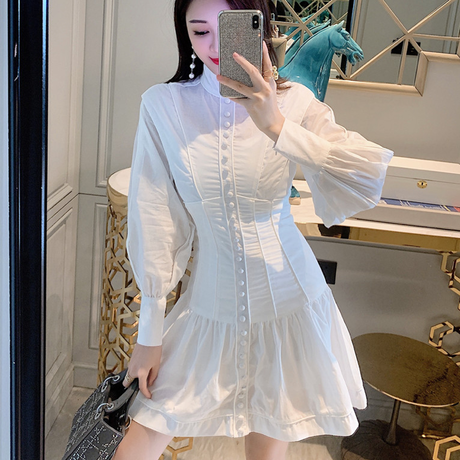 Dolly look corset shirt dress(No.301678)