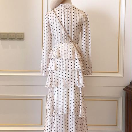 chiffon dot long OP(No.300610)