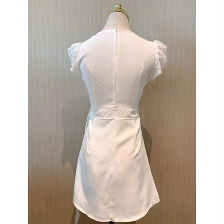 Waist belted two piece dress(No.301209)【2color】