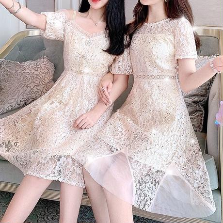 Similar cream lace dress(No.300709)