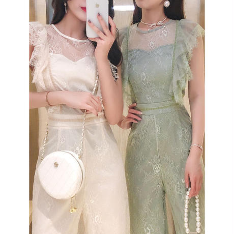 Fairy crochet lace long suit(No.301166)【2color】