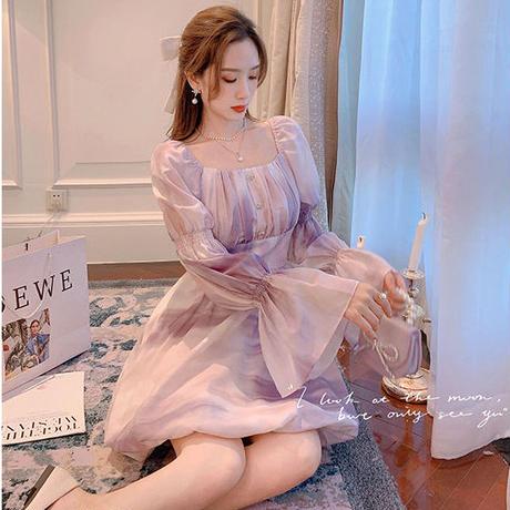 Romantic dream balloon sleeve dress(No.030915)