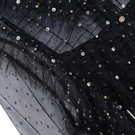 Black swan frill tulle docking dress(No.030802)