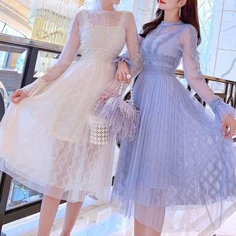 一部即納❤︎Organdy tulle long dress(No.300846)【2color】