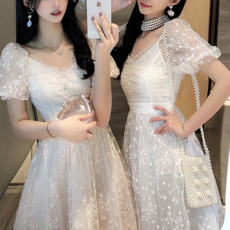 Dreamy tulle long dress(No.301184)【2color】