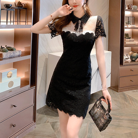 Classic lady mono dress(No.301047)