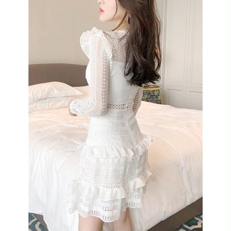 shoulder frill lace OP(No.300553)