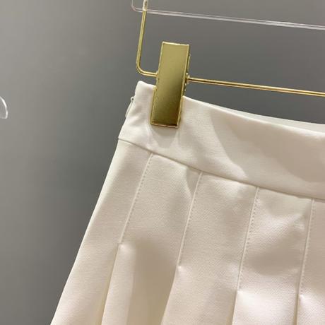 Asymmetry simple mono pleats setup(No.302353)【2color】