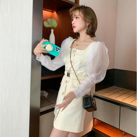 Idol look lemon mini dress(No.030923)