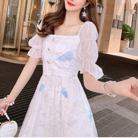 Muse butterfly two way shoulder long dress(No.301408)
