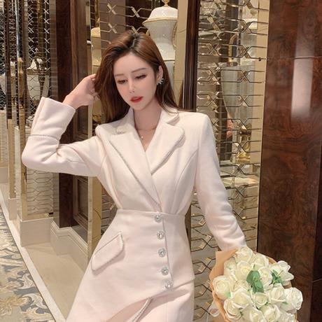 Lady  bijou line belted jacket(No.301952)