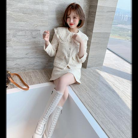 Pearl line creamy tweed setup(No.301686)