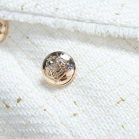 Double button handsome tweed setup(No.030922)【black】