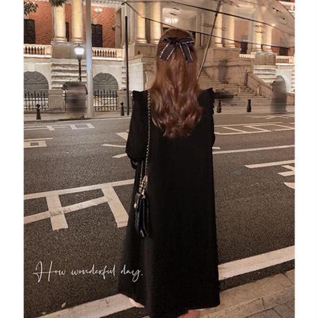 French chic double button coat(No.030920)【black】