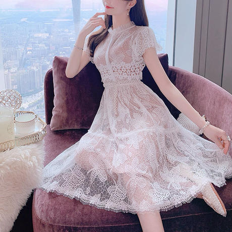 Fairy lace midi dress(No.301049)