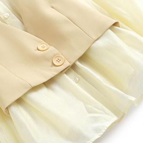 Lemon color vest suit setup(No.030924)