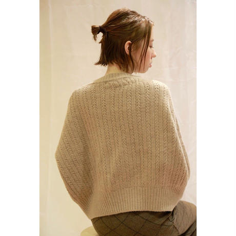 fleuron cable knit