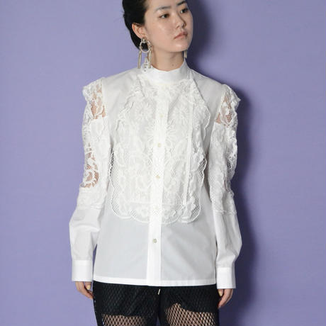 TOGA PULLA / Lace mix blouse