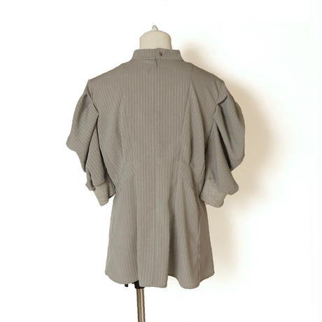 SHIROMA / Stripe Puff Sleeve Suit Top