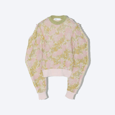 TOGA x TOMOO GOKITA / Wool jacquard knit / Pink