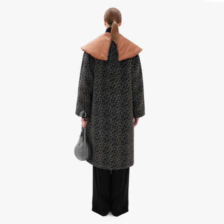 JW ANDERSON / SHAWL COLLAR WADDED COAT