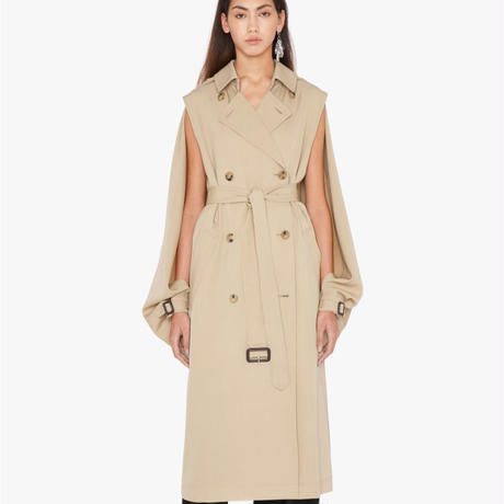 JWanderson / OPEN-SLEEVE CAPE TRENCH COAT