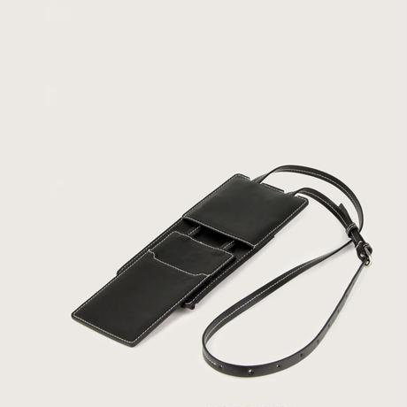 SAGAN Vienna / MODULAR PHONE CARD CASE / BLACK GRAPE LEATHER