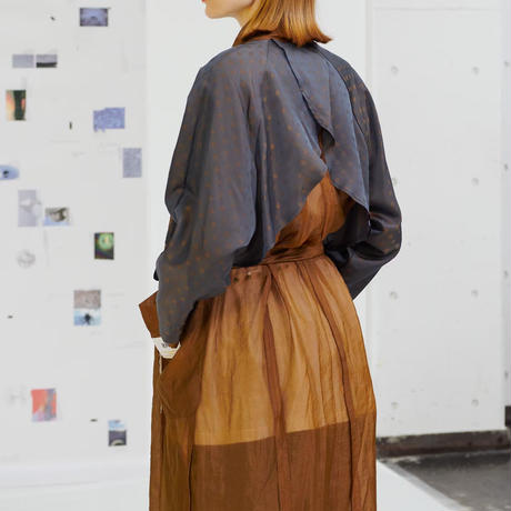 PONTI / SILK NYLON COAT / COPPER