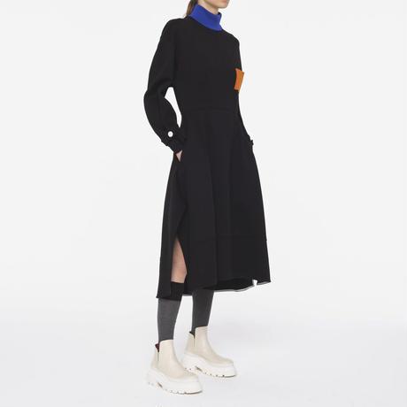 Plan C / Fleece Midi Dress