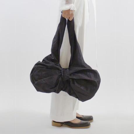 WED Studio / Moire Draped Bow Bag / Black