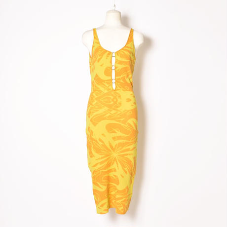 paloma wool / SCORPIA / Ring and Side Cut-Out Dress / Yellow
