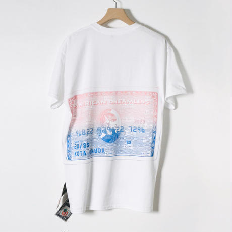 KOTAOKUDA / SHORT SLEEVE WITH BANKNOTE / AMEX / PINK x BLUE