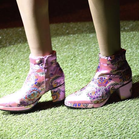 【DELTA EXCLUSIVE】NON TOKYO  / Jacquard Heel Boots / PINK