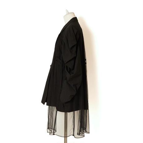SHIROMA / Tulle Docking Cord Lock Jacket