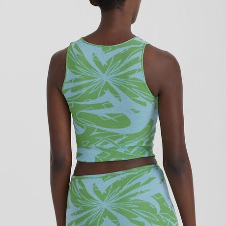 paloma wool / PONT / Asymetric Knit Crop Top / Green