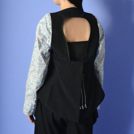 PERMINUTE / THE JACKET / BLACK × FLOWER