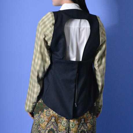 PERMINUTE / THE JACKET / NAVY×YELLOW