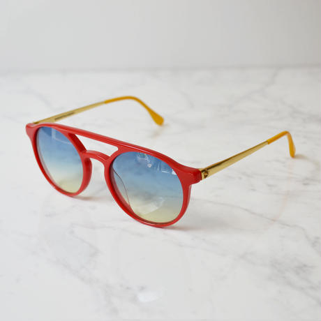 SHERIFF & CHERRY / PATMOS LUX CREMA SUNGLASS / RED