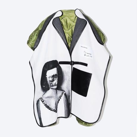 TOGA x TOMOO GOKITA / Gobelin jacquard poncho coat
