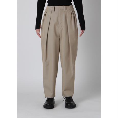 BASE MARK / Twill Tuck Pants / BEIGE