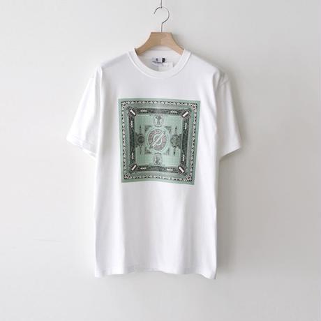 KOTAOKUDA / MONEY BANDANA GREEN BOX / WHITE