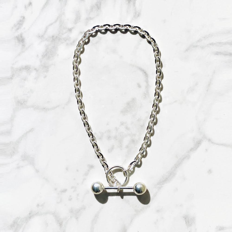 Saskia Diez / BARBELL NECKLACE CHOKER / SILVER