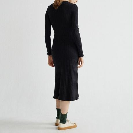 THINKING MU / Black Trash Hathor Dress