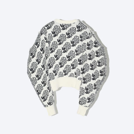 TOGA x TOMOO GOKITA / Wool jacquard knit / White