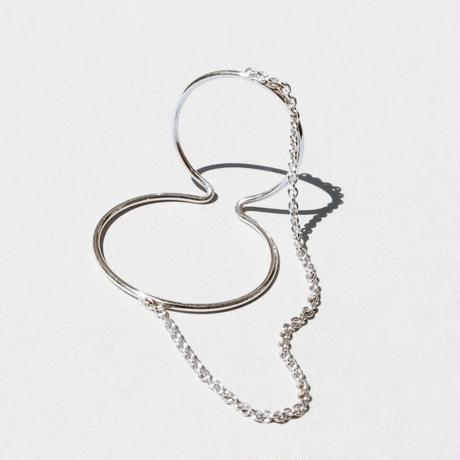 Saskia Diez / SILVER WIRE DOUBLE EARCUFF CHAINED / Mini