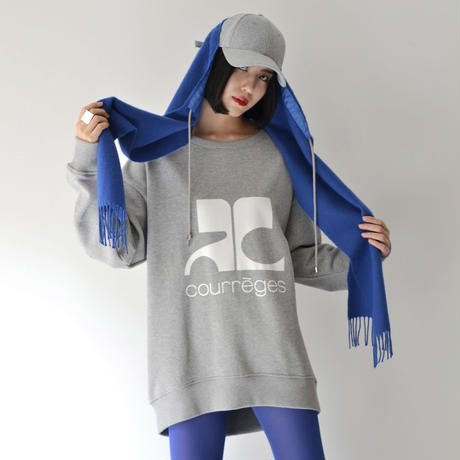 Azumi and David /  WOOL SCARF BASEBALL HOOD