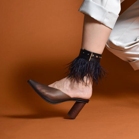 PROTCOL × BREATH BY DELTA / Feather Anklet / Black × Black